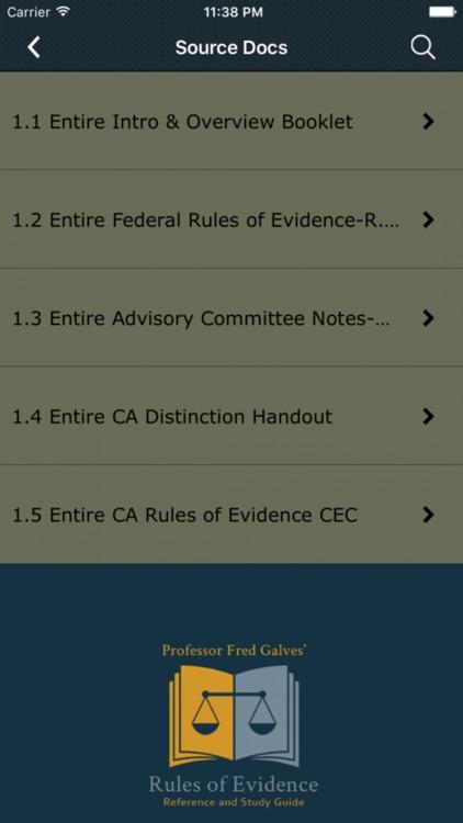 Prof. Galves Rules of Evidence screenshot-4