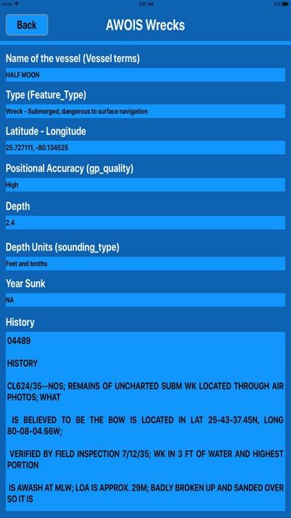 Noaa Wrecks & Obstructions MGR screenshot-4