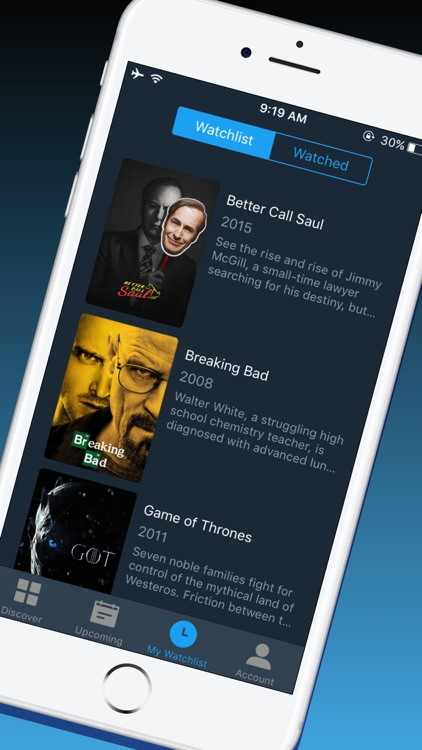Cinema Time - TV Shows Tracker