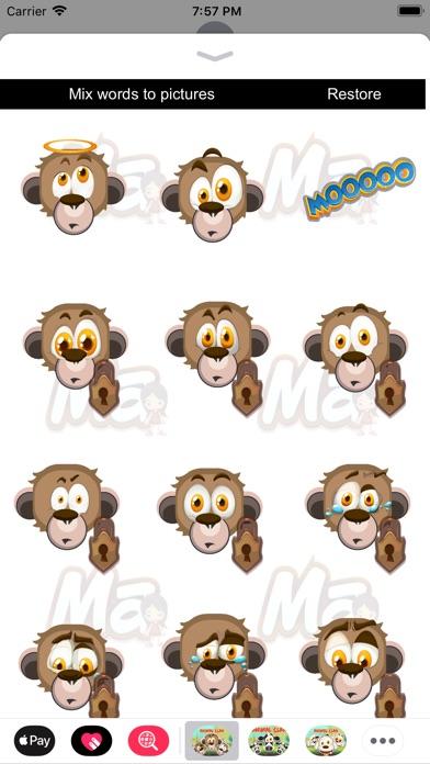 Animal Clan Monkey Stickers Screenshot 2