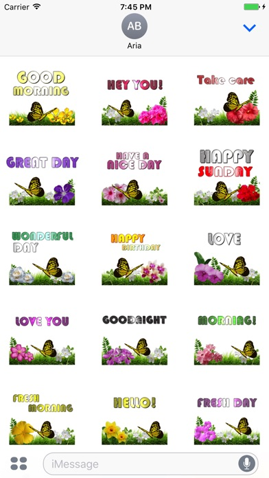 Butterfly And Flower Greetings screenshot 1