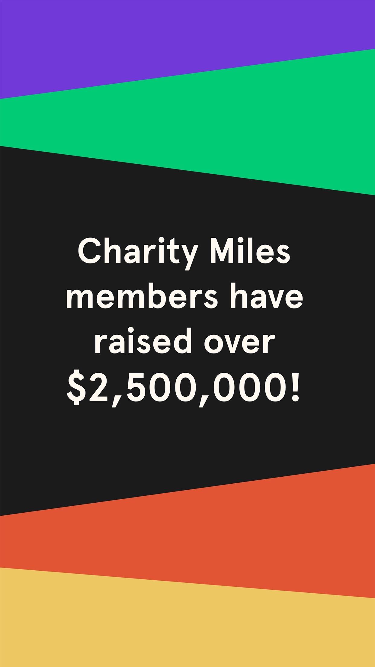 Charity Miles Screenshot