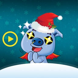 Merry Xmas Pigs Love Animated
