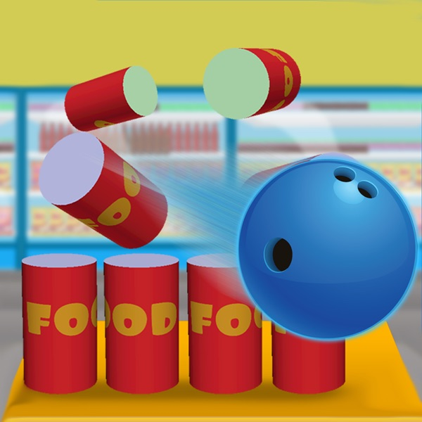 Grocery destruction party : food can air bowling game - Free Edition 1.0 IOS