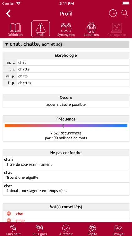 Dictionnaire Le Robert Mobile screenshot-3