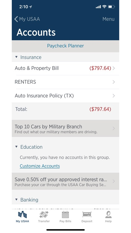 USAA Mobile screenshot-3