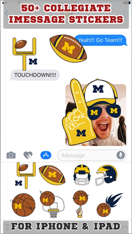 University of Michigan Stickers PLUS for iMessage
