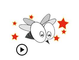 Moving Noisy Mosquito Sticker