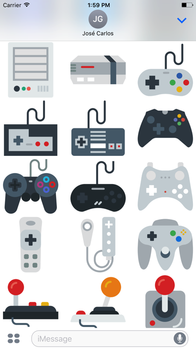 Gamer Sticker Pack for iMessage screenshot two