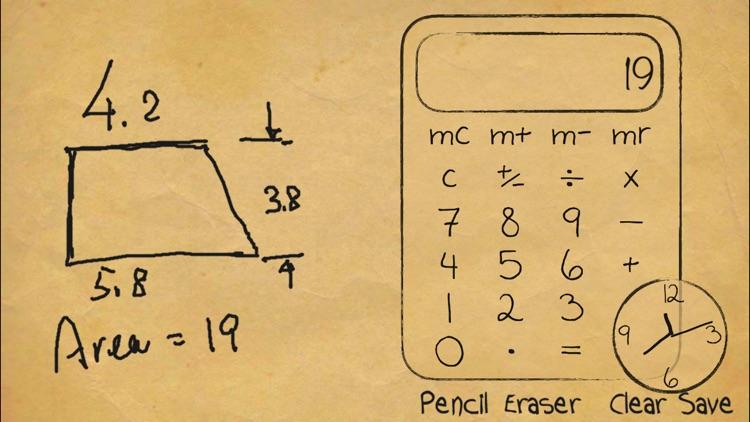 Paper Calculator & Clock screenshot-3
