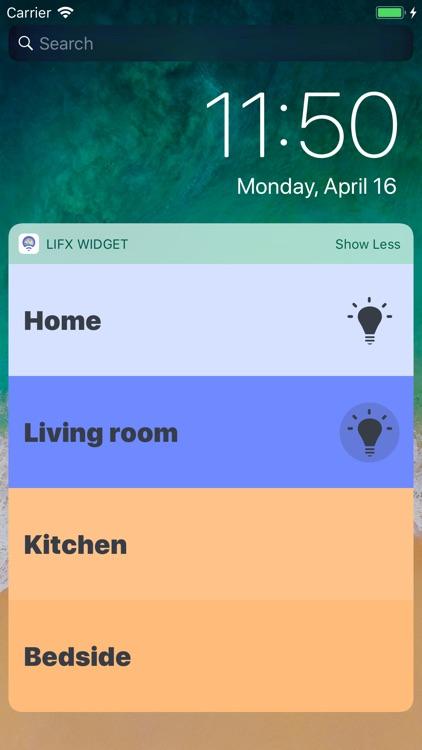 LIFX Widget