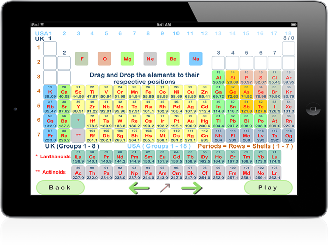 Pairplay periodic table for ipad on the app store urtaz Image collections
