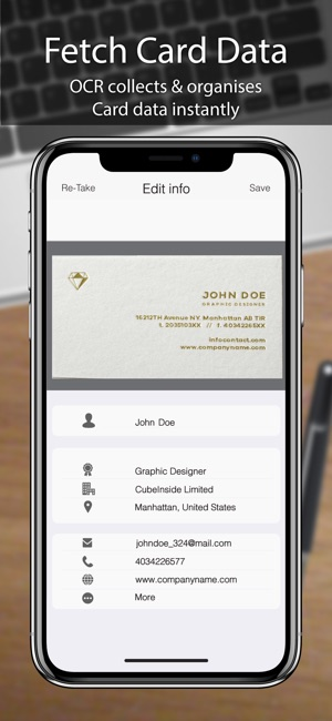 Business card scanner pro on the app store reheart Choice Image