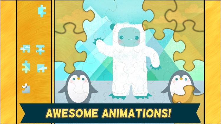 Monster Games for Kids: Jigsaw Puzzles HD - Gold screenshot-3
