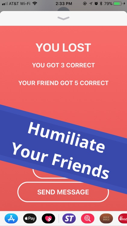 Simple Trivia - iMessage Game