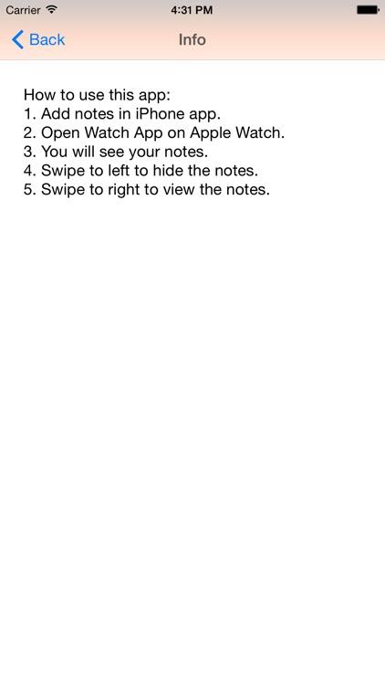 Secret Watch Notes