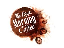 Good Morning Coffee Sticker