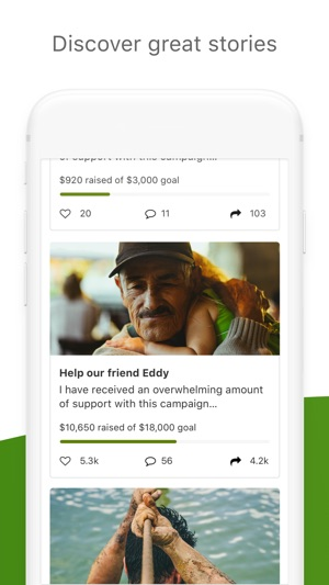 gofundme on the app store