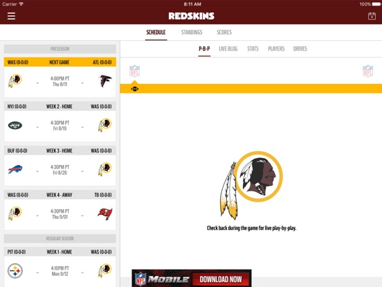 Washington Redskins iPad