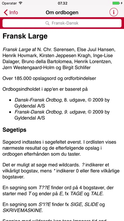Gyldendal's French Danish Dictionary - Large screenshot-4