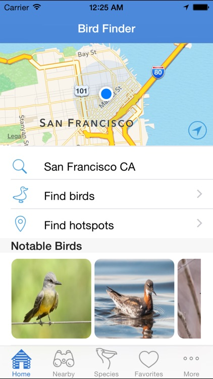 Bird Finder - birding & nearby hotspots guide