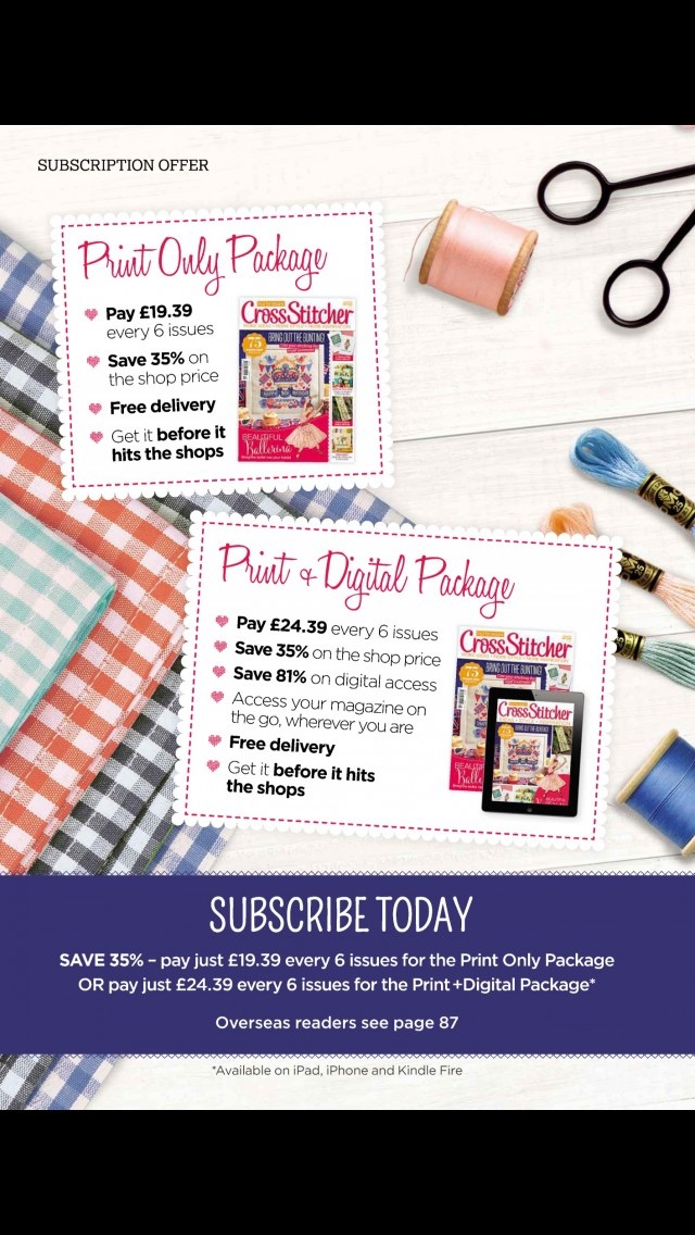 download CrossStitcher Magazine | stitching and colourful designs in home furnishings apps 2
