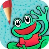 播放和彩色的动物游戏的孩子 - 连接点和画图纸