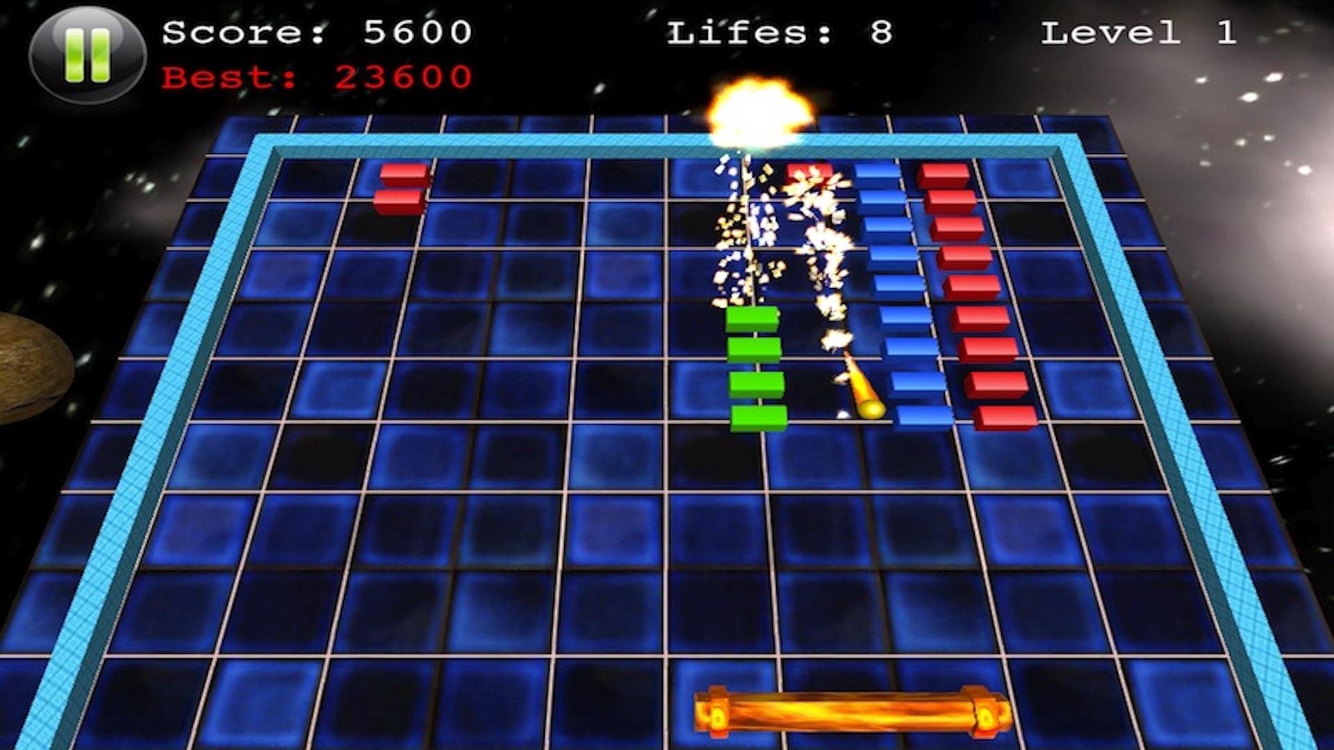 Block Smasher : 3D Fire Crush Bricks Breaker Game screenshot 3