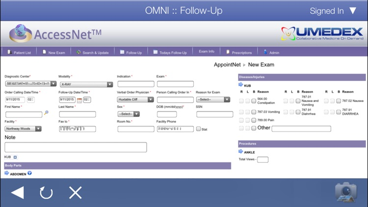 UMEDEX OMNI AccessNet