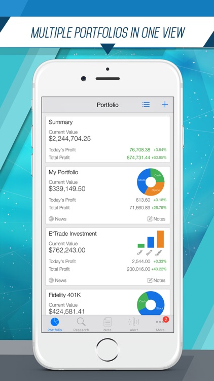 Portfolio Pro: Fast Portfolio Manager with Real-Time Stock Tracker, Option Analysis and Alert screenshot-0