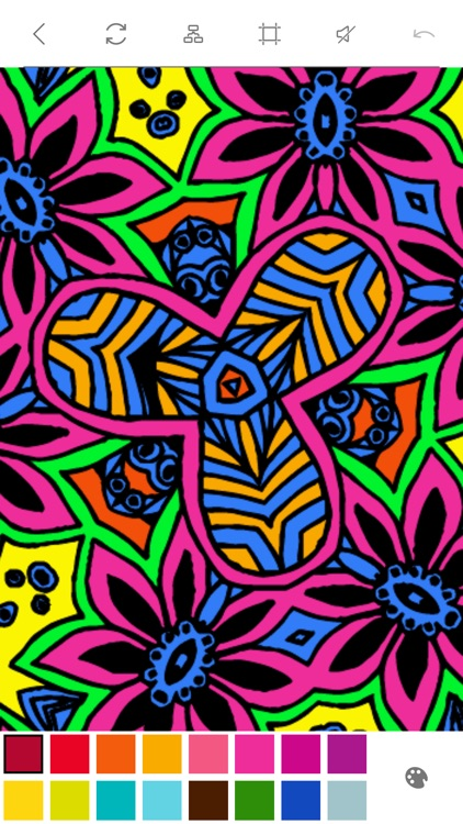 Mandalas to Color - Stress Relievers Relaxation Techniques Coloring Book for Adults screenshot-3