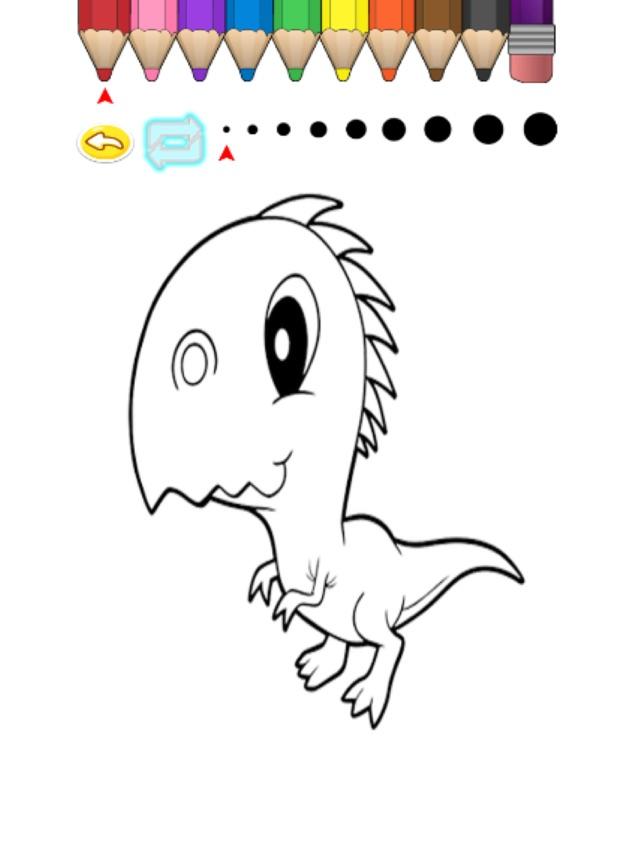 Cocuk Boyama Kitabi Sevimli Karikatur Dinozor Minami App Store Da