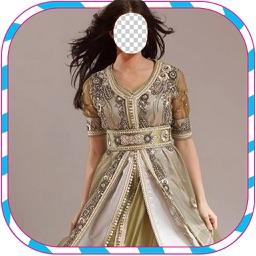 dress kaftan Woman Suit Photo Montage : Woman Fashion Booth