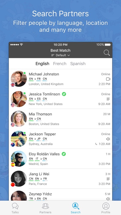 HelloTalk Language Exchange Learning App app image