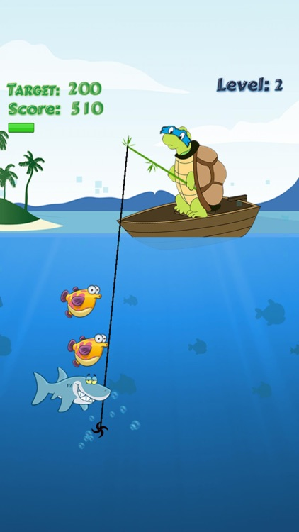 Turtle Fishing Catch A Big Fish In Deep Sea By Anothai Luadee