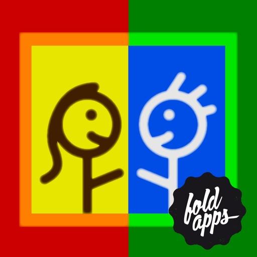 Дуэль с рисованием пальцами — совместная креативная игра от FoldApps™