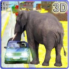 Activities of Elephant Run Simulator 2016 – Non Stop City Rampage & Crashing Defense against Hunters and Bulls
