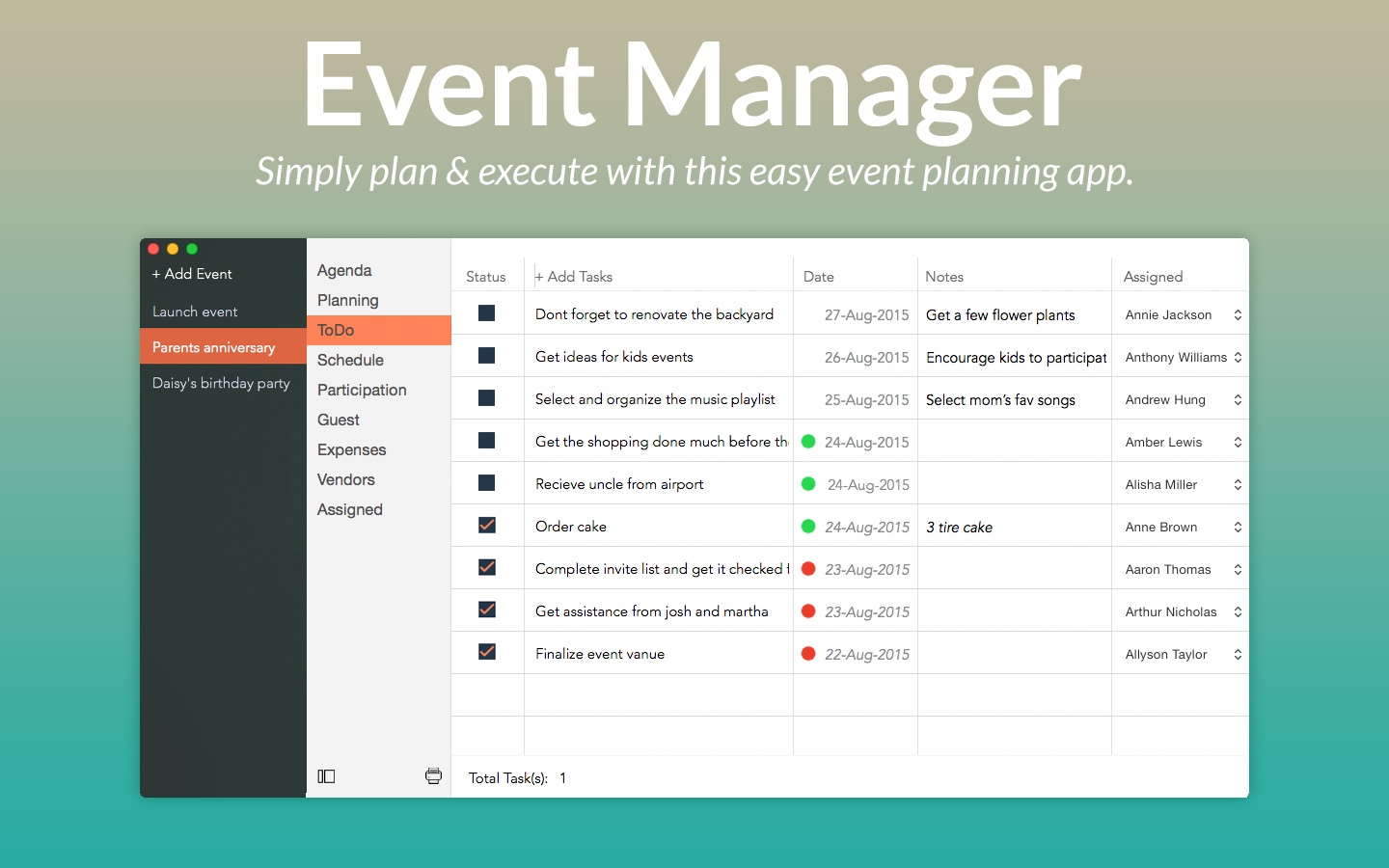 ‎Event Manager on the Mac App Store