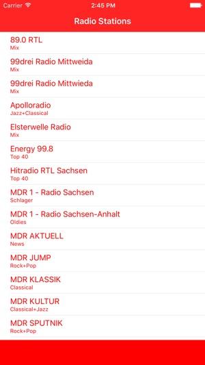 Radiosender Sachsen FM Online Stream on the App Store