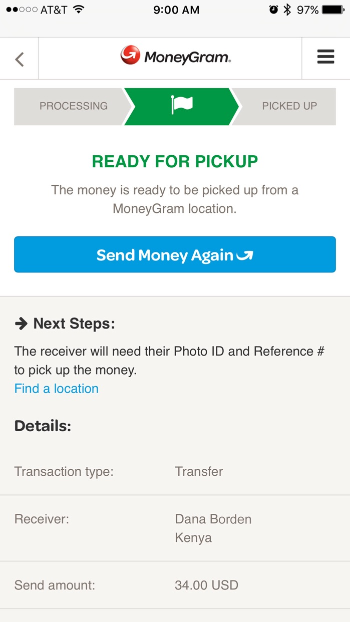 MoneyGram Screenshot