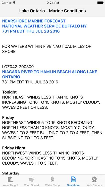 Lake Ontario - Marine Conditions screenshot-3