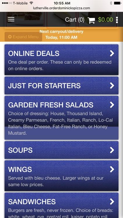 Dominick's Pizza - MD screenshot-4