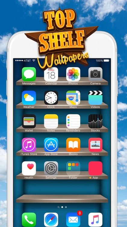 Top Shelves Wallpaper – Home Screen Backgrounds with Shelf, Frame and Sticker Decorations screenshot-4