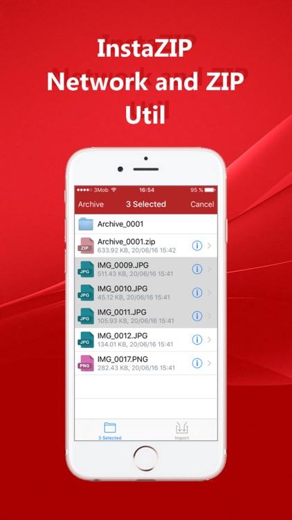 InstaZIP - Network (FTP/SMB/CIFS) ZIP Utils screenshot-4