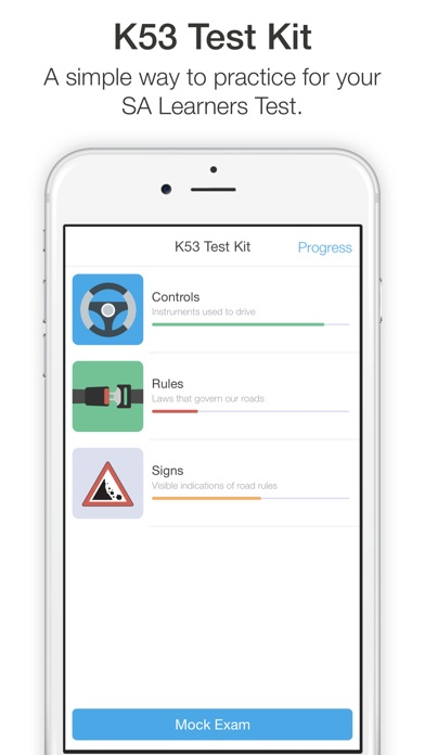Screenshot for K53 Test Kit - Learner's licence practice app in South Africa App Store
