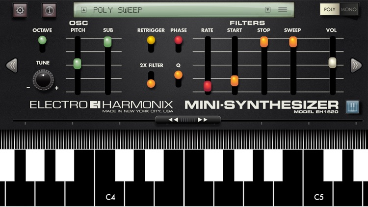Mini Synthesizer for iPhone screenshot-0