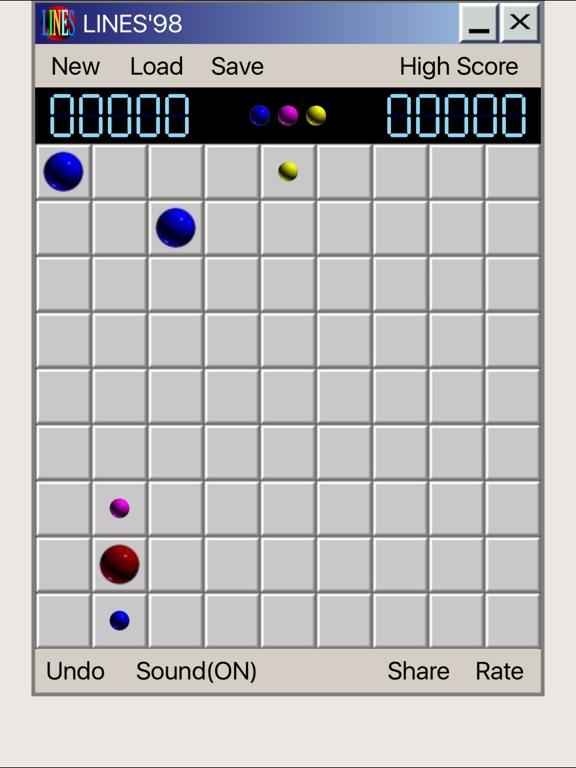 Line 98 Classic No Ads - линии одинаковых по цвету шариков для iPad