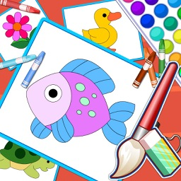 Puzzles And Coloring Games 2 - For Kids Learning Painting and Animals