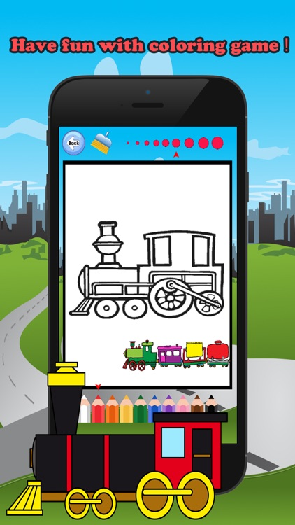 Train Friends Coloring Book for children age 1-10: Games free for Learn to use finger to drawing or coloring with each coloring pages screenshot-3