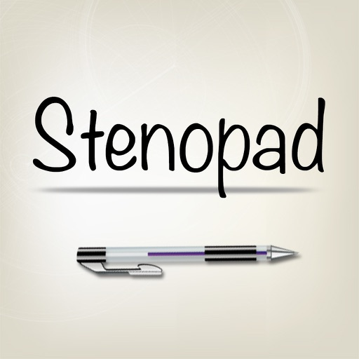 StenoPad for original handwriting, stenography